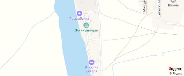 Волжская улица на карте Бакланьего поселка с номерами домов