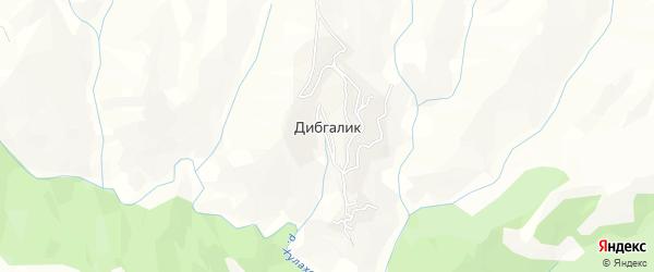 Карта села Дибгалика в Дагестане с улицами и номерами домов