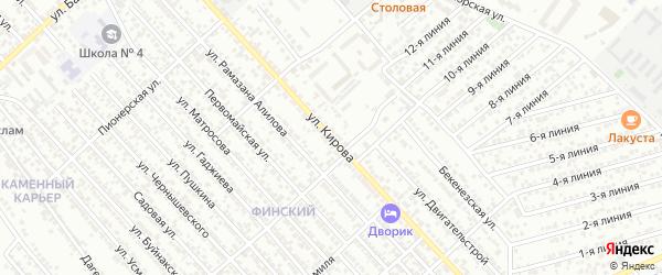 Улица Кирова на карте Каспийска с номерами домов