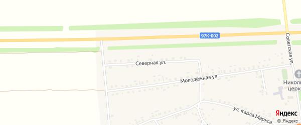 Северная улица на карте села Турмыши с номерами домов
