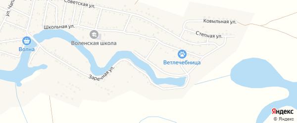 Красная Набережная улица на карте Вольного села с номерами домов