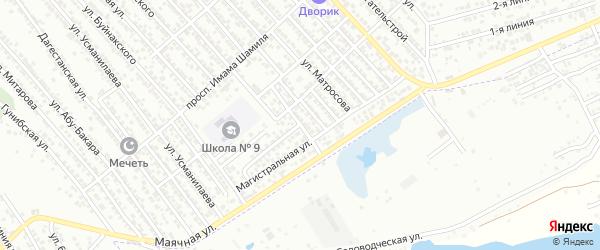 Переулок Пушкина на карте Каспийска с номерами домов