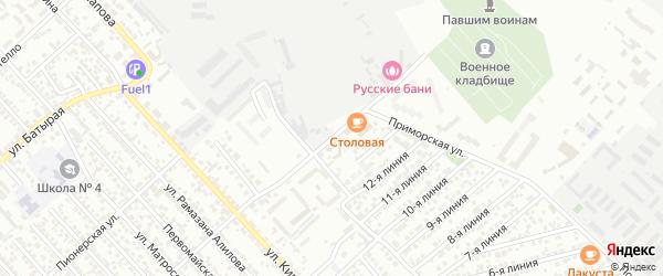 Приморская улица на карте Каспийска с номерами домов