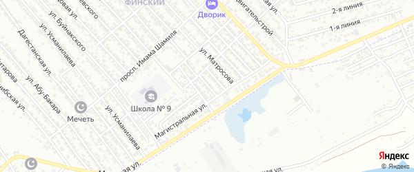 Переулок Гаджиева на карте Каспийска с номерами домов