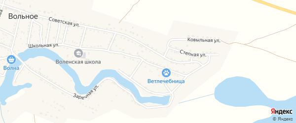 Первомайская улица на карте Вольного села с номерами домов