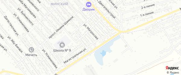 Переулок Матросова на карте Каспийска с номерами домов