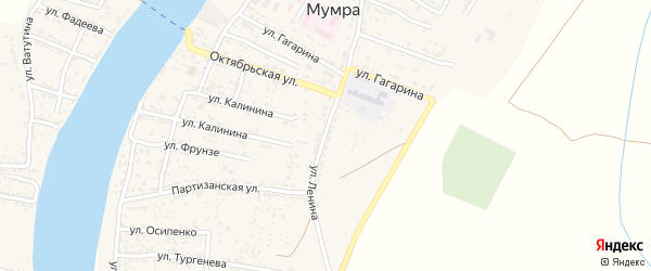 Улица Ленина на карте села Мумры с номерами домов