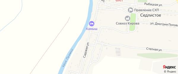 Садовая улица на карте Седлистого села с номерами домов