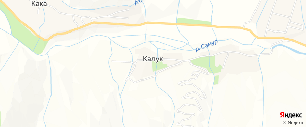 Карта села Калука в Дагестане с улицами и номерами домов