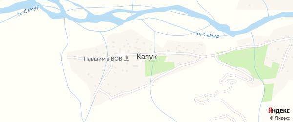 Центральная улица на карте села Калука с номерами домов