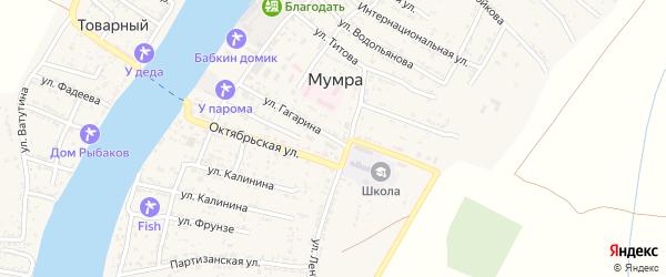Улица Гагарина на карте села Мумры с номерами домов