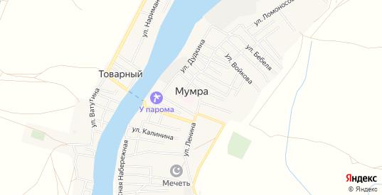 Карта села Мумра в Астраханской области