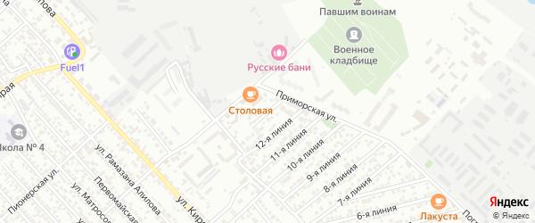Улица Строитель СНТ Линия 13 на карте Каспийска с номерами домов