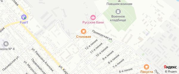 Улица Весна СНТ Линия 13 на карте Каспийска с номерами домов