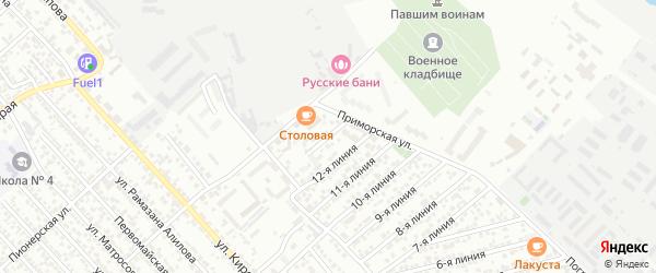 Участок Каспий СНТ Линия 13 на карте Каспийска с номерами домов