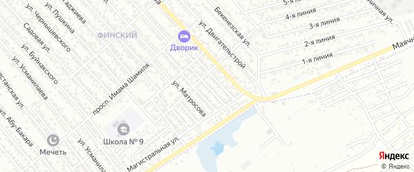 Первомайский переулок на карте Каспийска с номерами домов