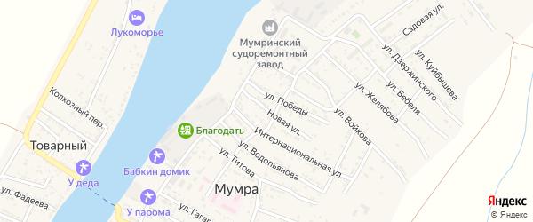 Новая улица на карте села Мумры с номерами домов