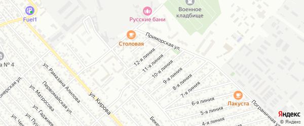 11-я линия на карте Тенглик СНТ с номерами домов
