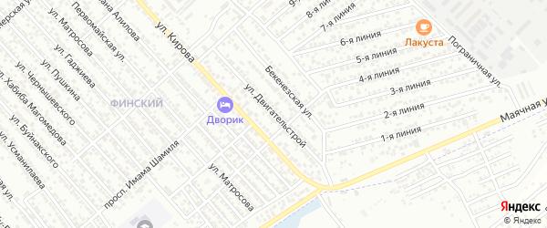Улица Двигательстрой на карте Каспийска с номерами домов
