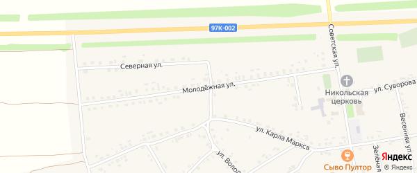 Молодежная улица на карте села Турмыши с номерами домов