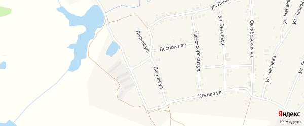 Лесная улица на карте села Турмыши с номерами домов