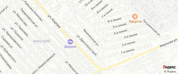 Бекенезская улица на карте Каспийска с номерами домов