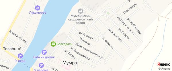 Улица Победы на карте села Мумры с номерами домов