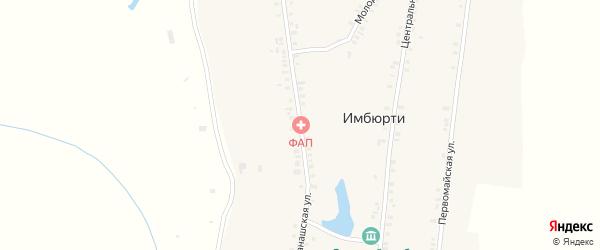 Канашская улица на карте деревни Имбюрти с номерами домов