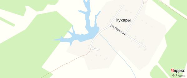 Овражная улица на карте деревни Кукары с номерами домов