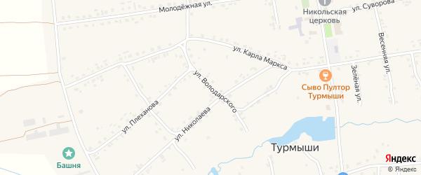 Улица Володарского на карте села Турмыши с номерами домов