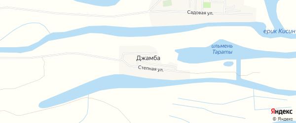 Карта села Джамбы в Астраханской области с улицами и номерами домов