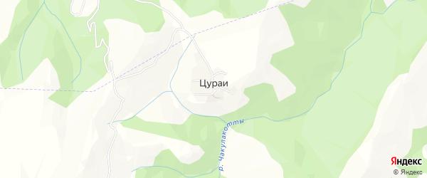 Карта села Цураи в Дагестане с улицами и номерами домов