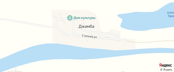 Степная улица на карте села Джамбы с номерами домов