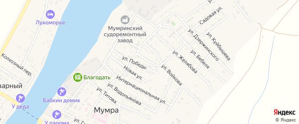 Тихая улица на карте села Мумры с номерами домов