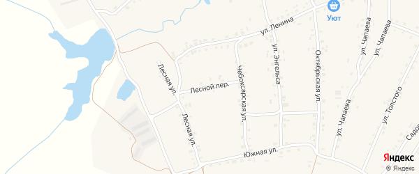 Лесной переулок на карте села Турмыши с номерами домов