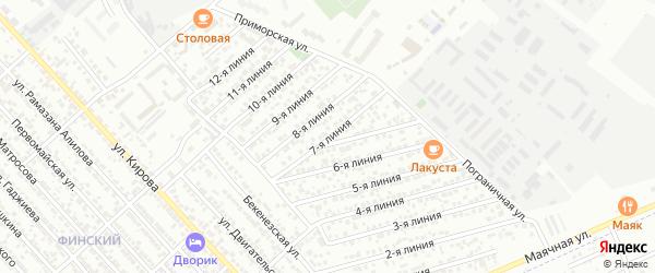 7-я линия на карте Строителя СНТ с номерами домов