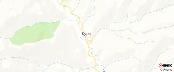 Карта села Курага в Дагестане с улицами и номерами домов