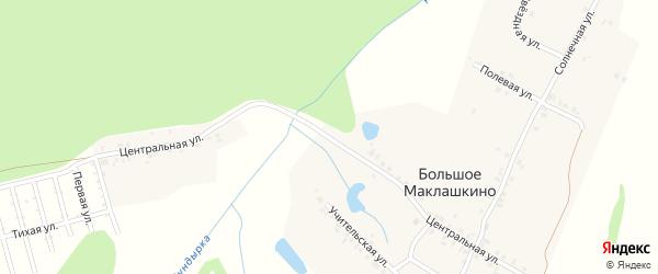 Центральная улица на карте деревни Большое Маклашкино с номерами домов