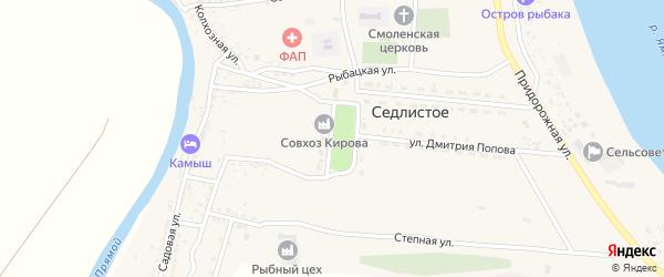 Улица 40 лет Победы на карте Седлистого села с номерами домов