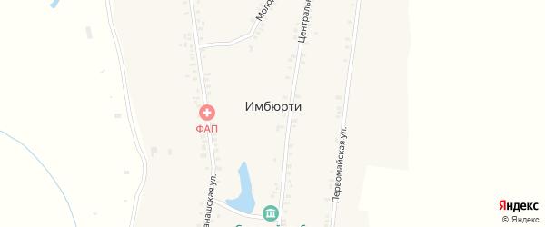 Фермская улица на карте деревни Имбюрти с номерами домов
