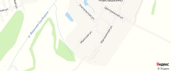 Минская улица на карте деревни Большое Маклашкино с номерами домов