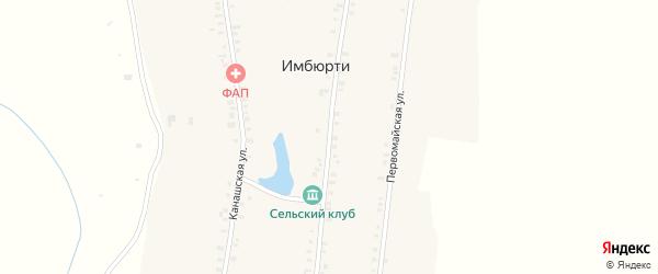 Центральная улица на карте деревни Вторые Вурманкасы с номерами домов