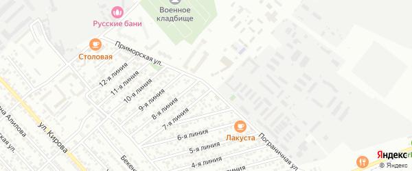 Пограничная улица на карте Каспийска с номерами домов