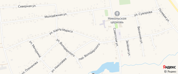 Улица К.Маркса на карте села Турмыши с номерами домов