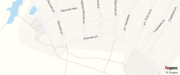 Южная улица на карте села Турмыши с номерами домов