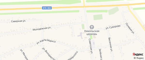 Молодежный переулок на карте села Турмыши с номерами домов