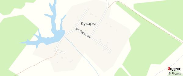 Улица М.Горького на карте деревни Кукары с номерами домов