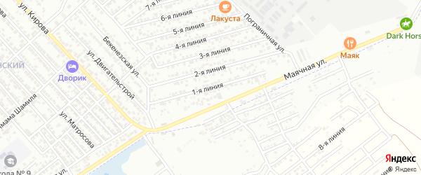 1-я линия на карте Строителя СНТ с номерами домов