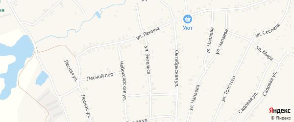 Улица Энгельса на карте села Турмыши с номерами домов