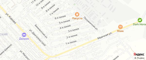 3-я линия на карте Восхода СНТ с номерами домов